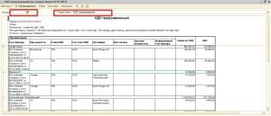 Отчет по регистрам НДС
